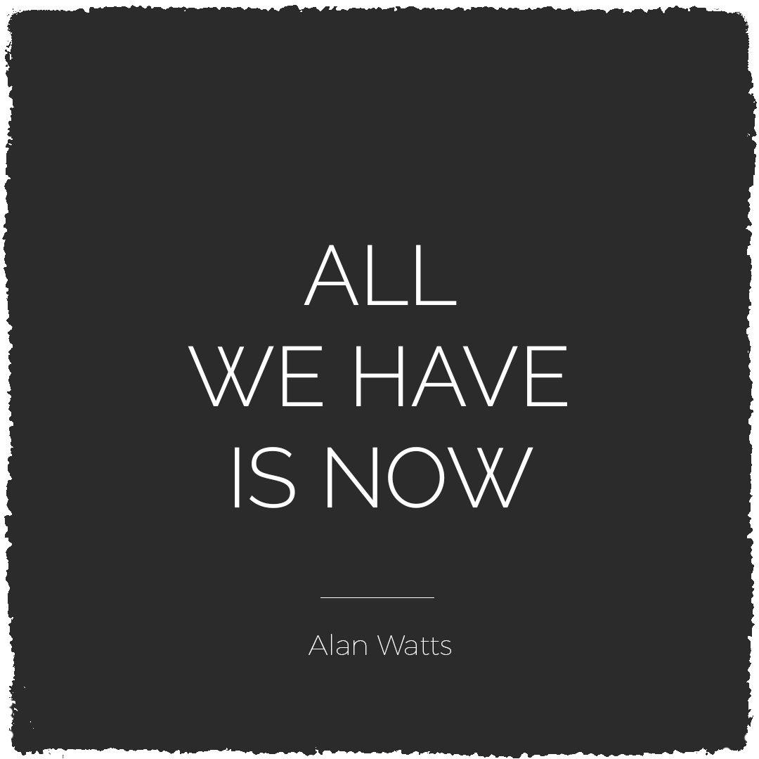 All we have is now - Alan Watts | Bijzonderdag