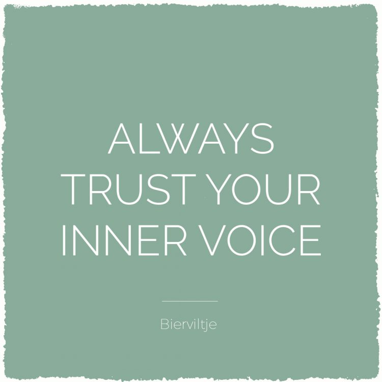Always trust your inner voice | Bijzonderdag